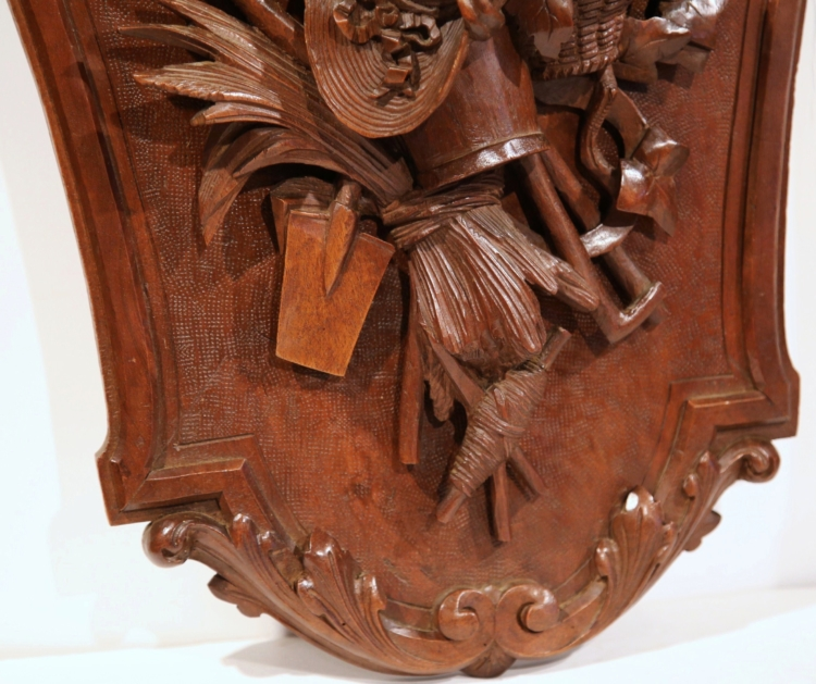 Pair of 19th Century French Carved Walnut Black Forest Wall Trophies