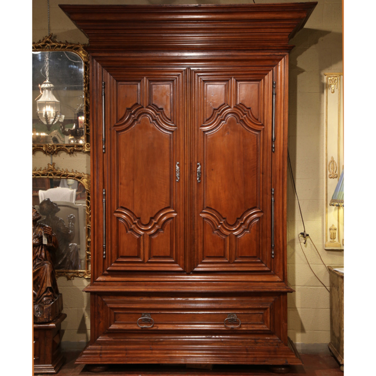 Monumental 18th Century French Louis XIII Walnut Armoire from the Loire Valley