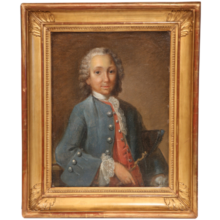 18th Century French Oil on Canvas Framed Painting of the Marquis de Rochambeau