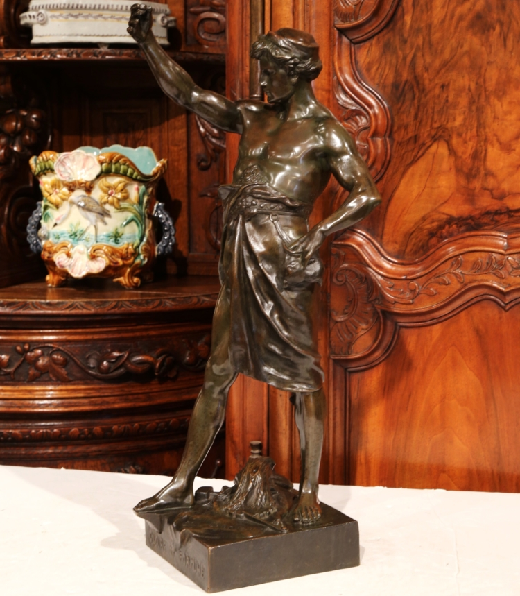 "19th Century French Bronze Figure ""Gloire Et Fortune"" Signed Emile Picault"