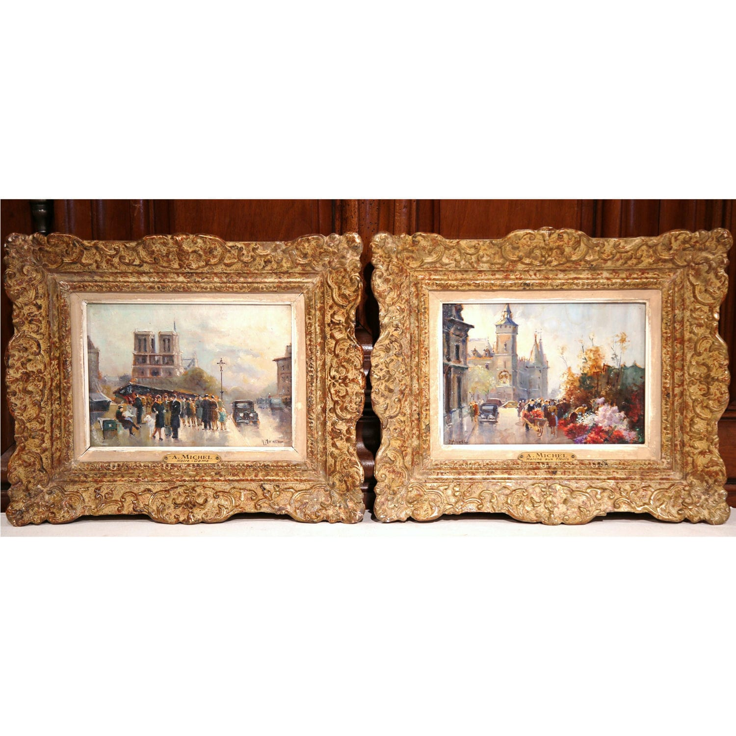 Pair of photos of French scenes